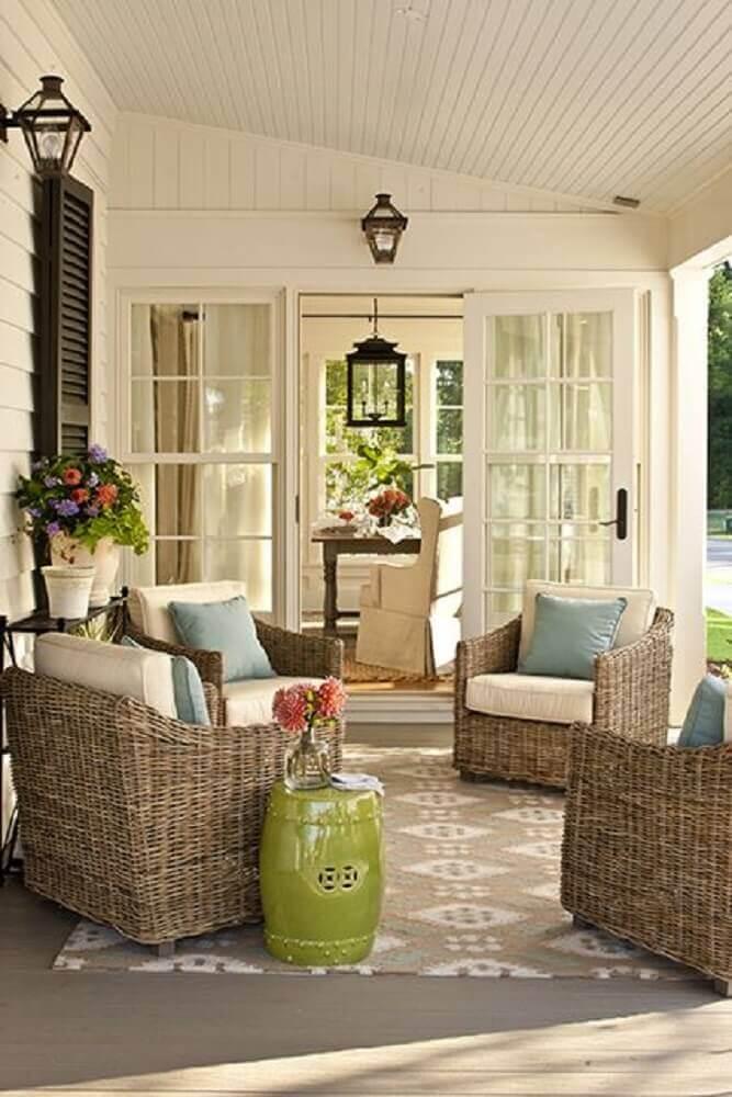 varanda com garden seat