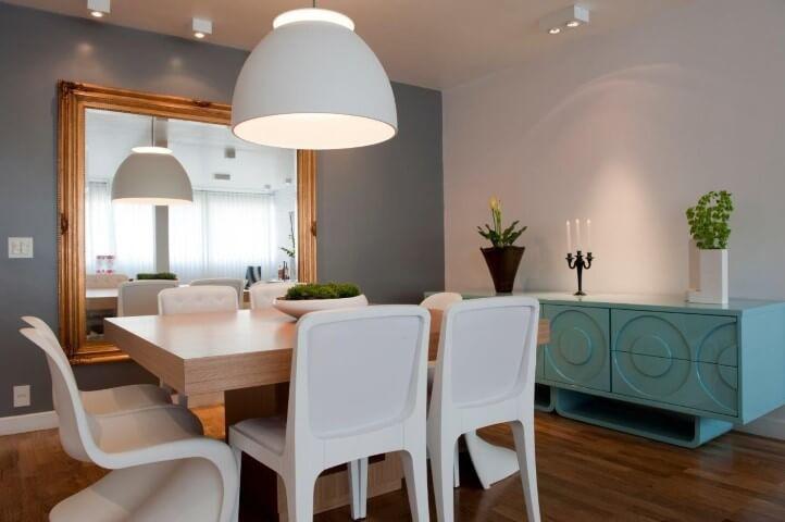 Aparador para sala de jantar azul vintage Projeto de Ih! Designers