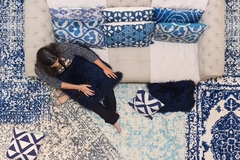 O Oriental Soft explora nuances de branco e azul com uma cara moderna, sem deixar de reverenciar a beleza da tapeçaria antiga.