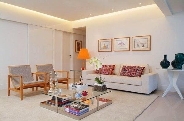 Parede de drywall na sala luxuosa