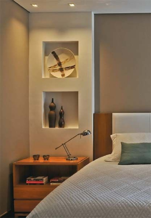 Parede de drywall para quarto de casal simples