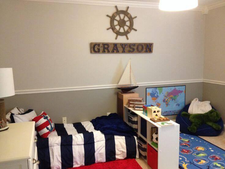 Quarto Montessoriano estilo navy