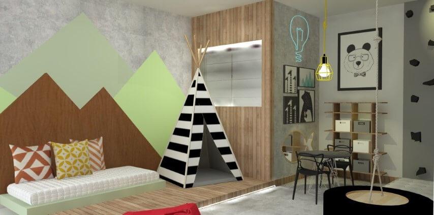 Quarto montessoriano de menino amplo Projeto de GFT Arquitetura
