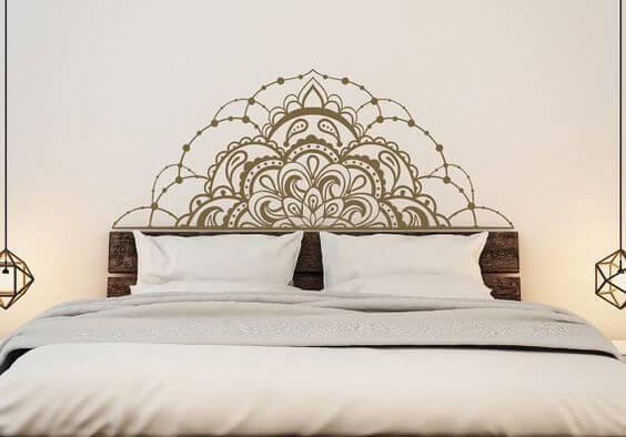 adesivos de parede com cabeceira