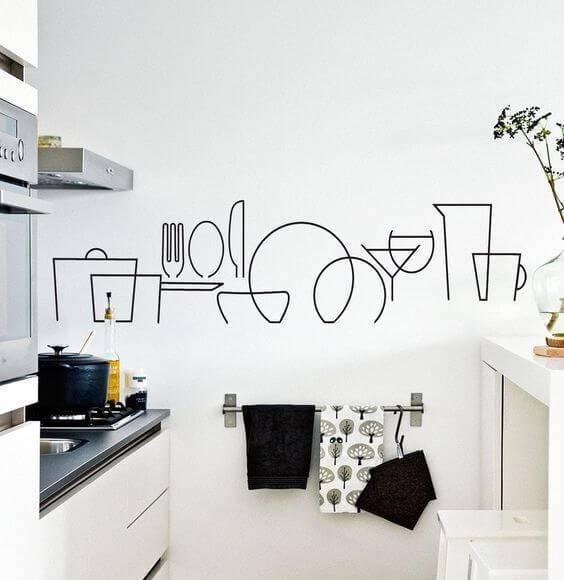 adesivos de parede de cozinha