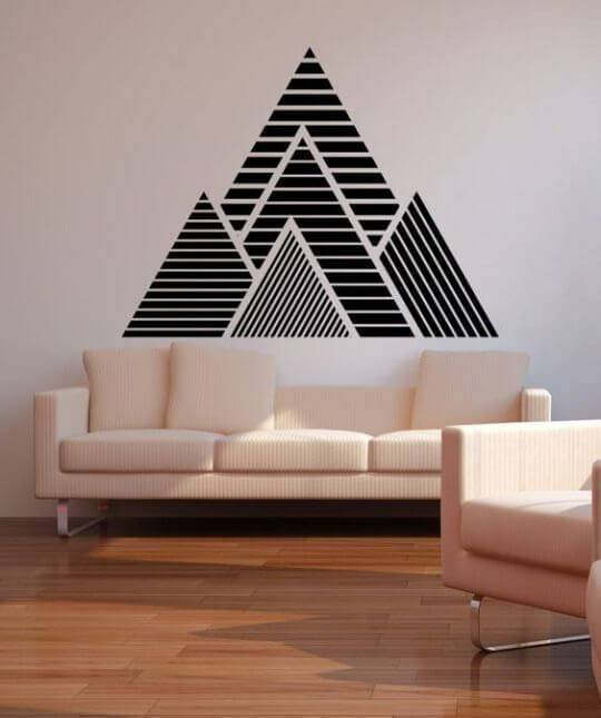 adesivos de parede de montanha