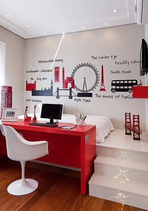 adesivos de parede no quarto