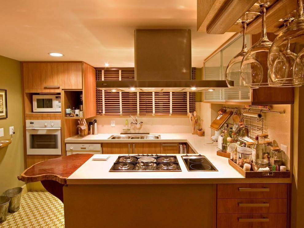 cozinha gourmet bancada com cooktop bpa arquitetura 109359