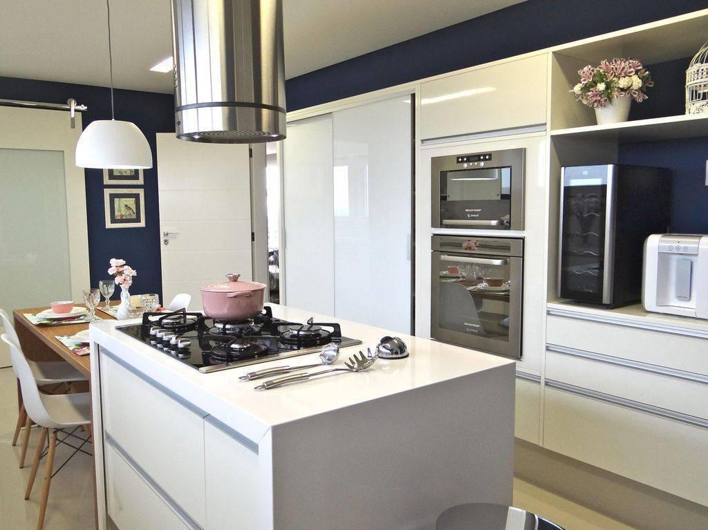 cozinha planejada com cooktop belissa corra 20712