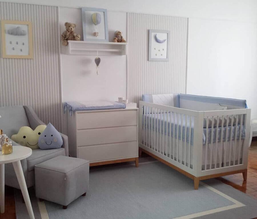 decoração clean com tapete para quarto de bebê cinza e branco Foto Tapetes Rugs for Kids