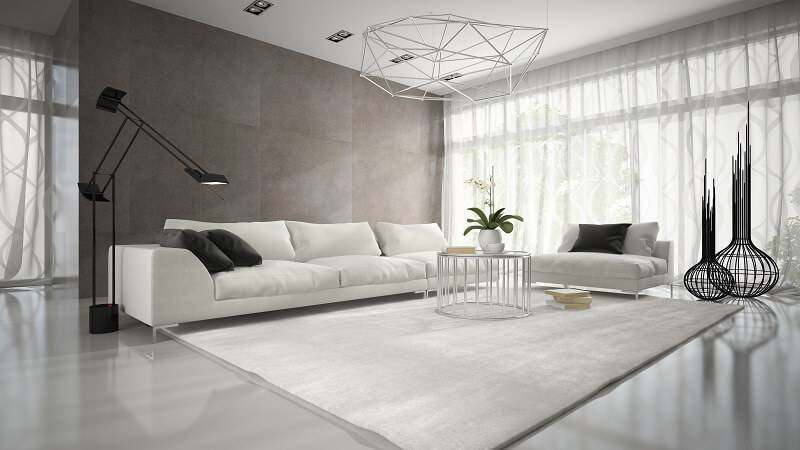 orquideas na sala de estar espaçosa