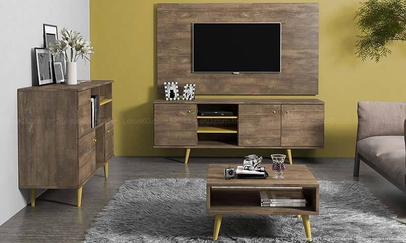 Sala De Tv Com Rack Amarelo ~ Como Caprichar na Decoração de Sala de TV de sua Casa