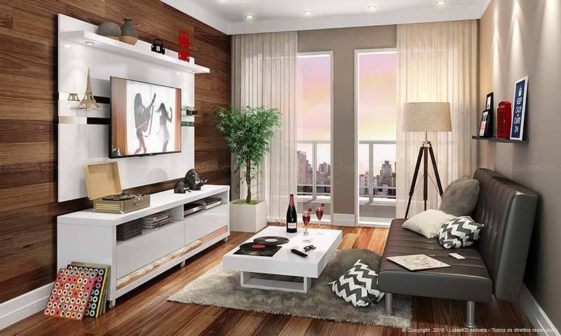Decoração de sala de TV colorido