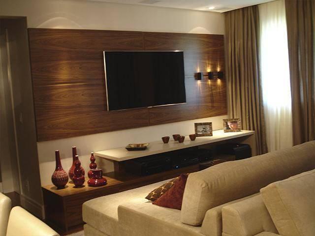 Altura Padrao De Tv Na Parede Sala ~  de possibilidades e inspirações para que você decorar sua casa