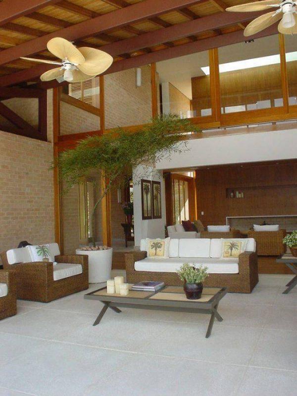 Como instalar ventilador de teto para sala de estar. Projeto por A1 Arquitetura