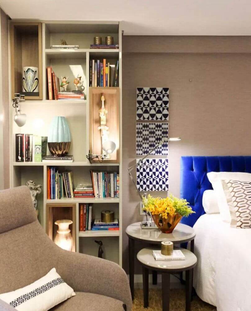 decoração com nichos para quarto