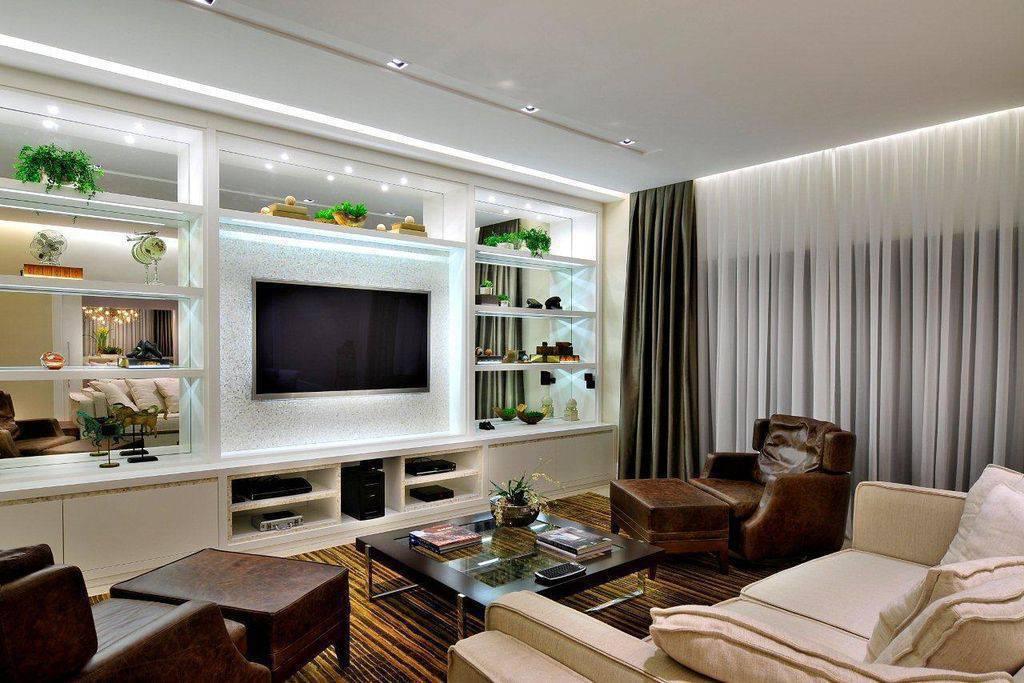 lampadas de led sala de estar quitete faria 41925