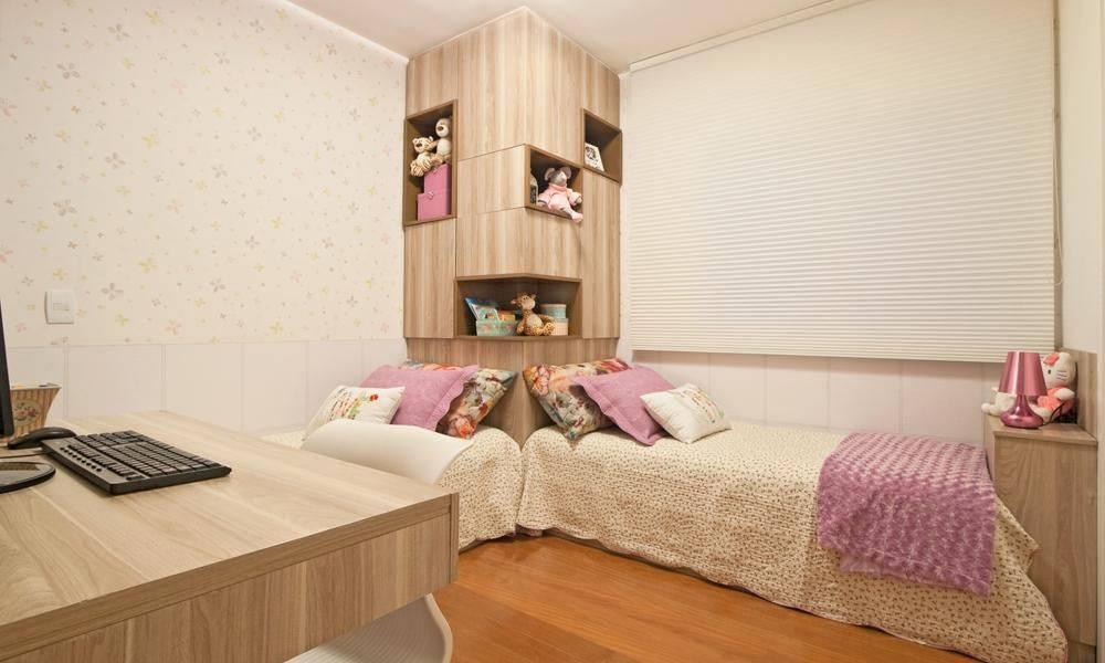 decoração com nichos para quarto de menina
