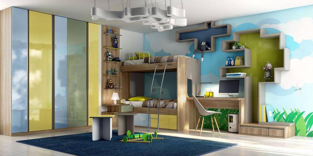 Nichos para quarto grande e colorido