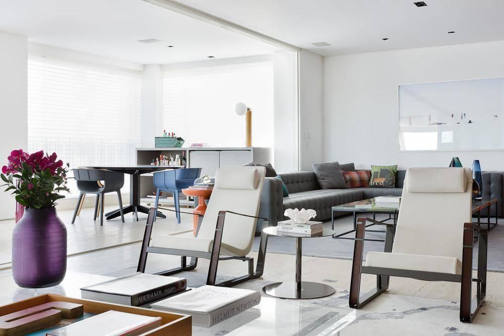 porta de correr na sala de estar suite arquitetos 23623