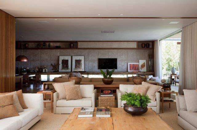 sala de estar clean debora aguiar