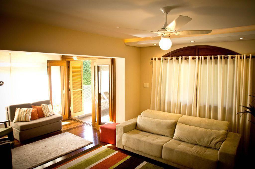 ventilador de teto na sala de estar inova arquitetura 96599