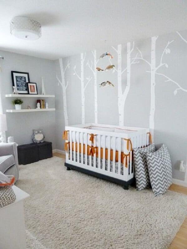adesivo para quarto de bebê todo cinza Foto Circu Magical Furniture