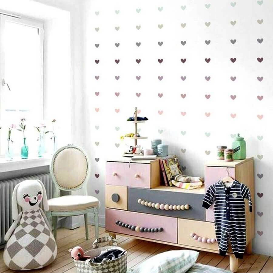 adesivos para quarto de bebê com cômoda diferente Foto Mundo Ovo