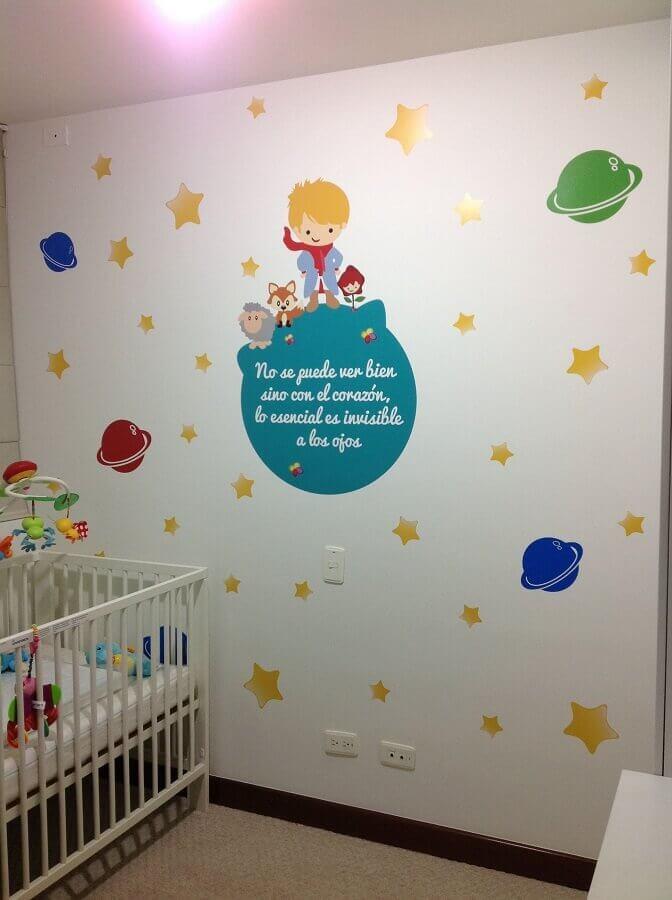 adesivos para quarto de bebê com tema pequeno príncipe Foto Pinosy