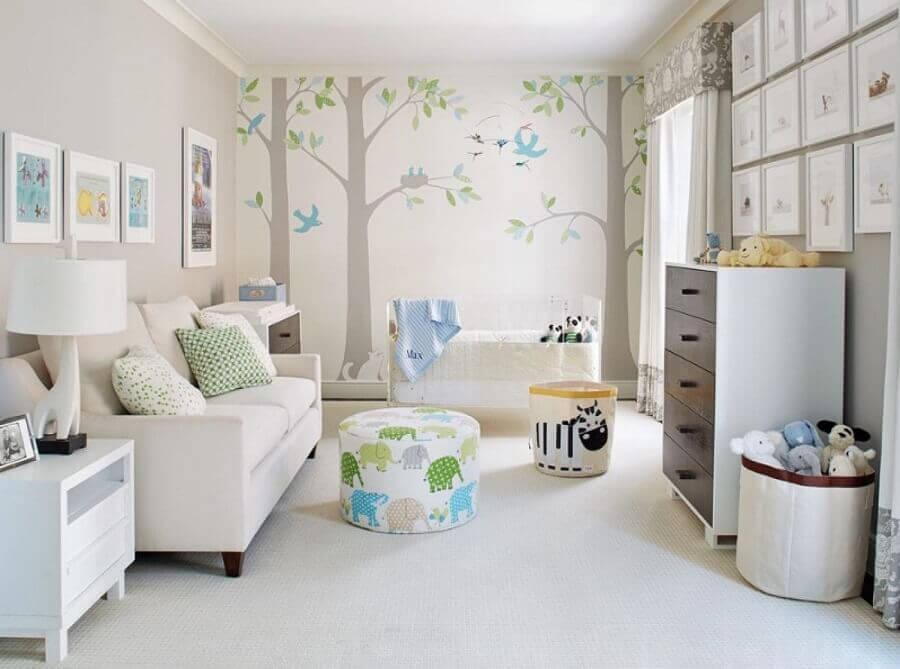 adesivos para quarto de bebê decorado em cores neutras Foto Brick Wall Art