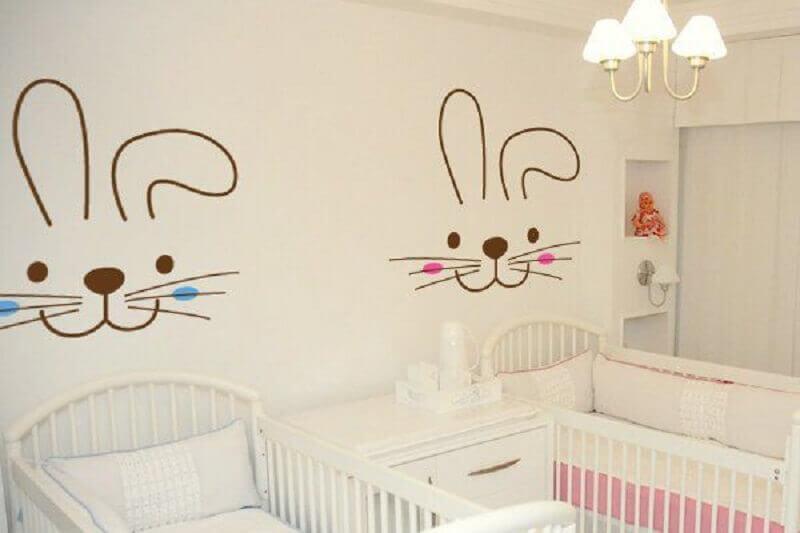 adesivos para quarto de bebê gêmeos Foto Sonho Mágico