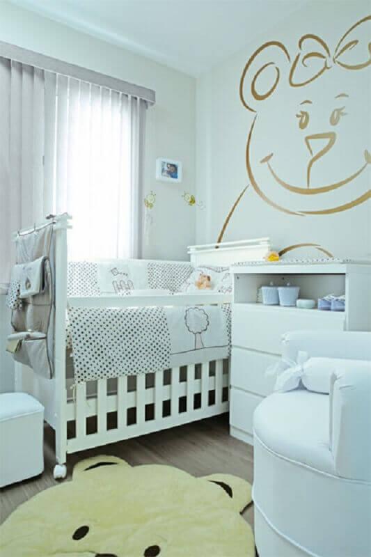 adesivos para quarto de bebê todo branco Foto Dicas de Decoração