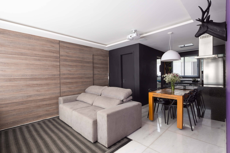 apartamento decorado sala de estar pequena Foto por Gabriel Castro