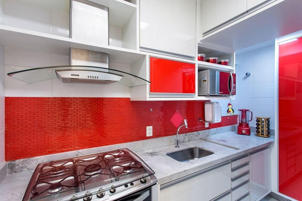 Cozinha vermelha clean