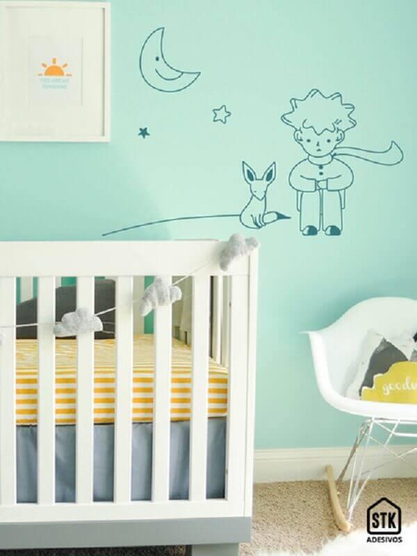 decoração clean com adesivos para quarto de bebê Foto STK Adesivos