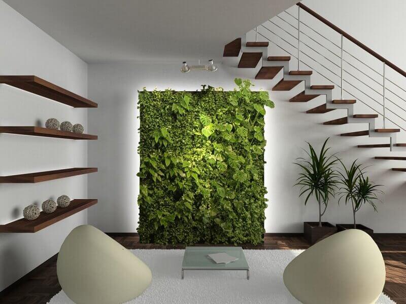 decoração com jardim vertical