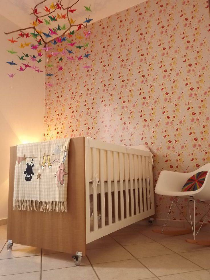 decoração com origami quarto bebe