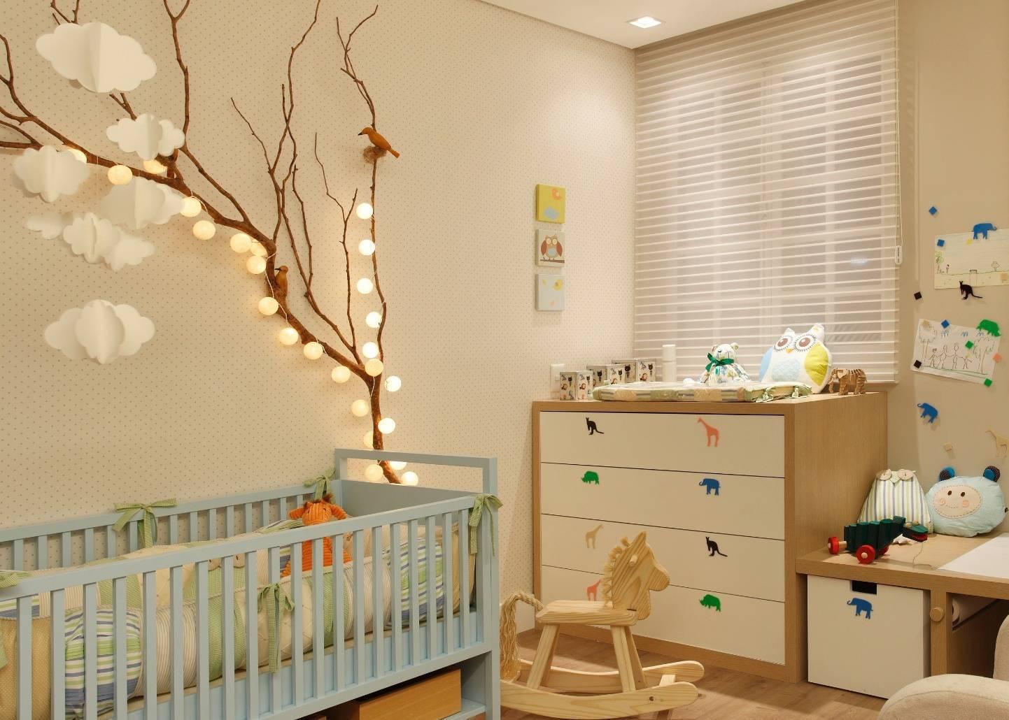 decoração com pisca pisca quarto bebe