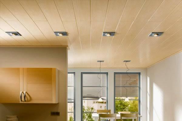 forro de pvc claro na cozinha