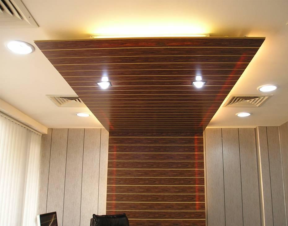 forro de pvc de madeira no painel