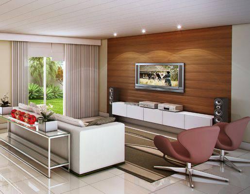 forro de pvc na sala de estar moderna