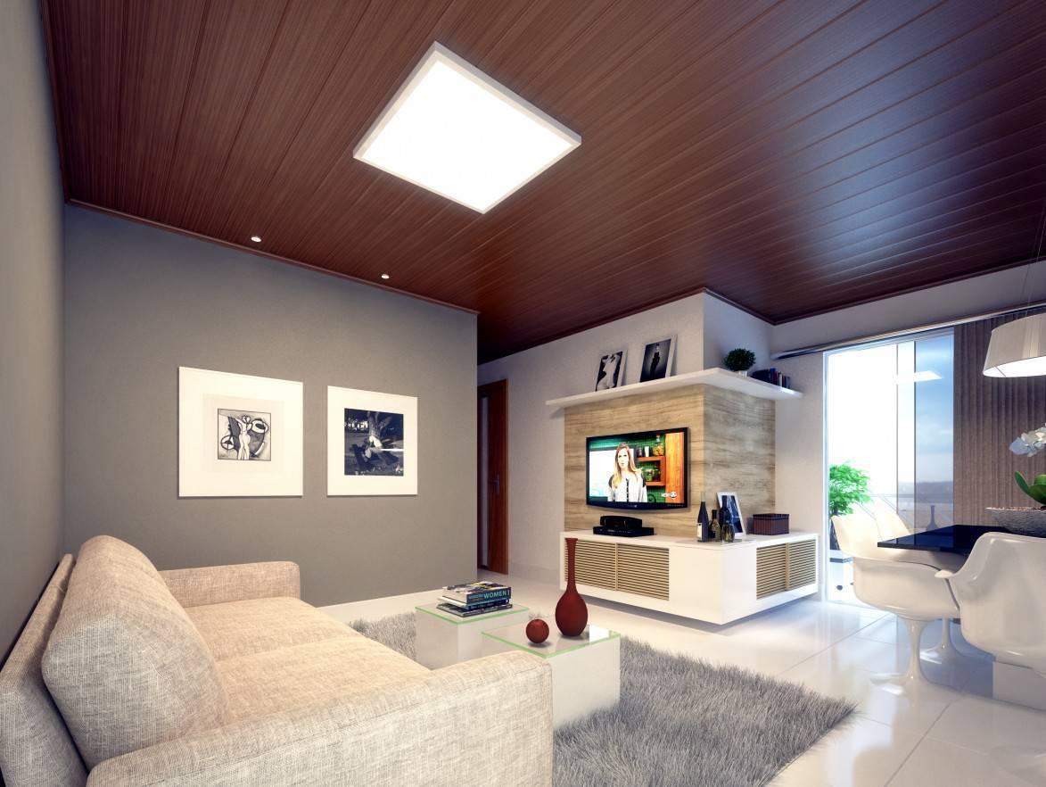 forro de pvc texturizado na sala de estar