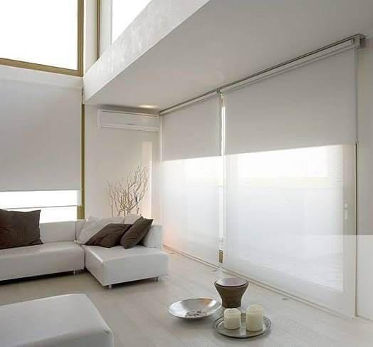 Persianas para sala de estar branca