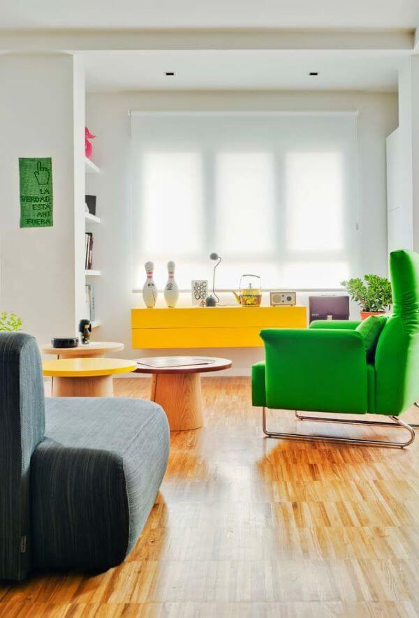 Persianas para sala colorida