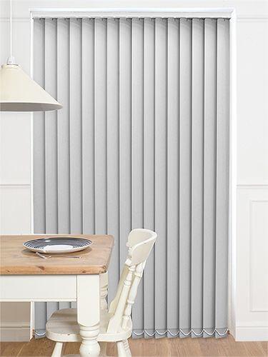 Persianas para sala de estar cinza com detalhes em branco