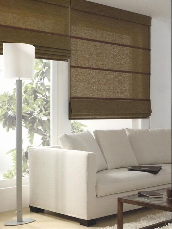 Persianas para sala de estar marrom