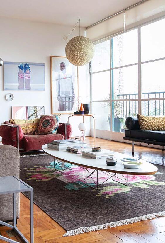 Persianas para sala de estar colorida