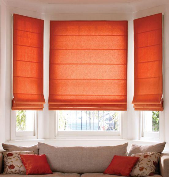 Persianas para sala de estar laranja