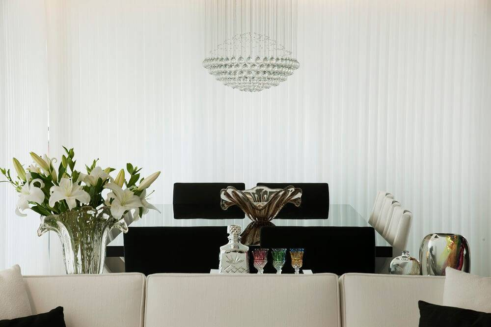 persianas para sala de jantar