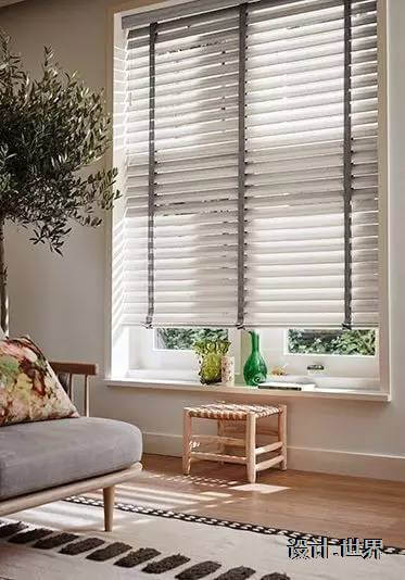 Persianas para sala de estar com cinza